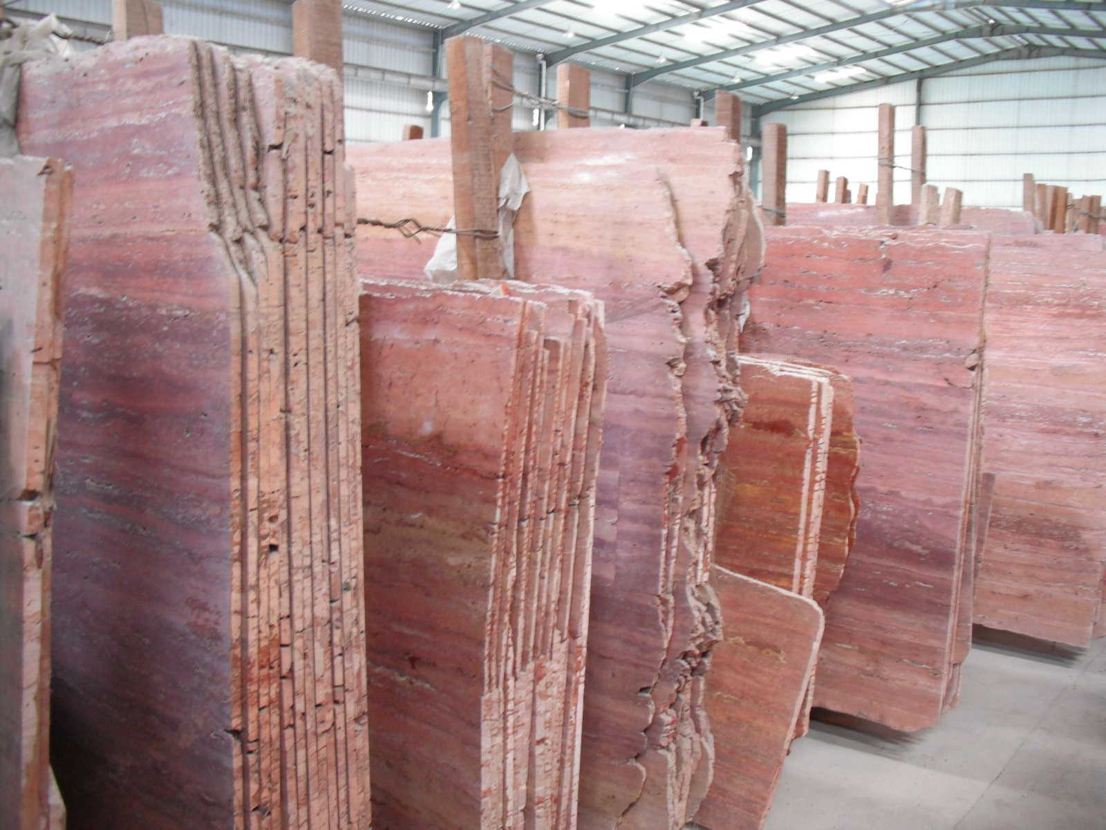 Travertine Stone Slabs : Red travertine marble slab professional supplier of